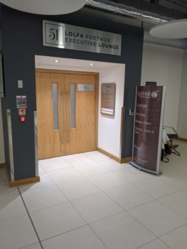 Executive Lounge Cardiff Airport entrance