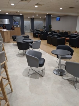 Executive Lounge Cardiff Airport seating
