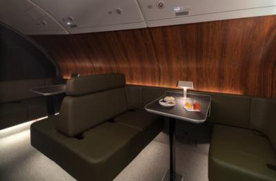 Qatnas refurbished A380 lounge