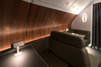 Qatnas refurbished A380 onboard lounge