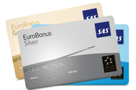 How can you earn SAS EuroBonus points from UK credit cards?