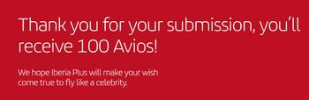 100 free Avios