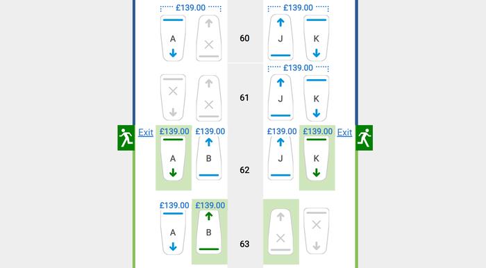 British Airways seat reservation fees