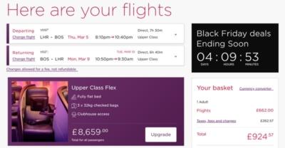 Virgin Atlantic deal to Boston