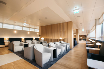 British Airways Geneva lounge