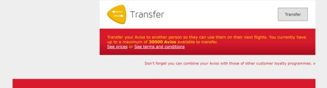 Transfer Avios from Iberia to British Airways