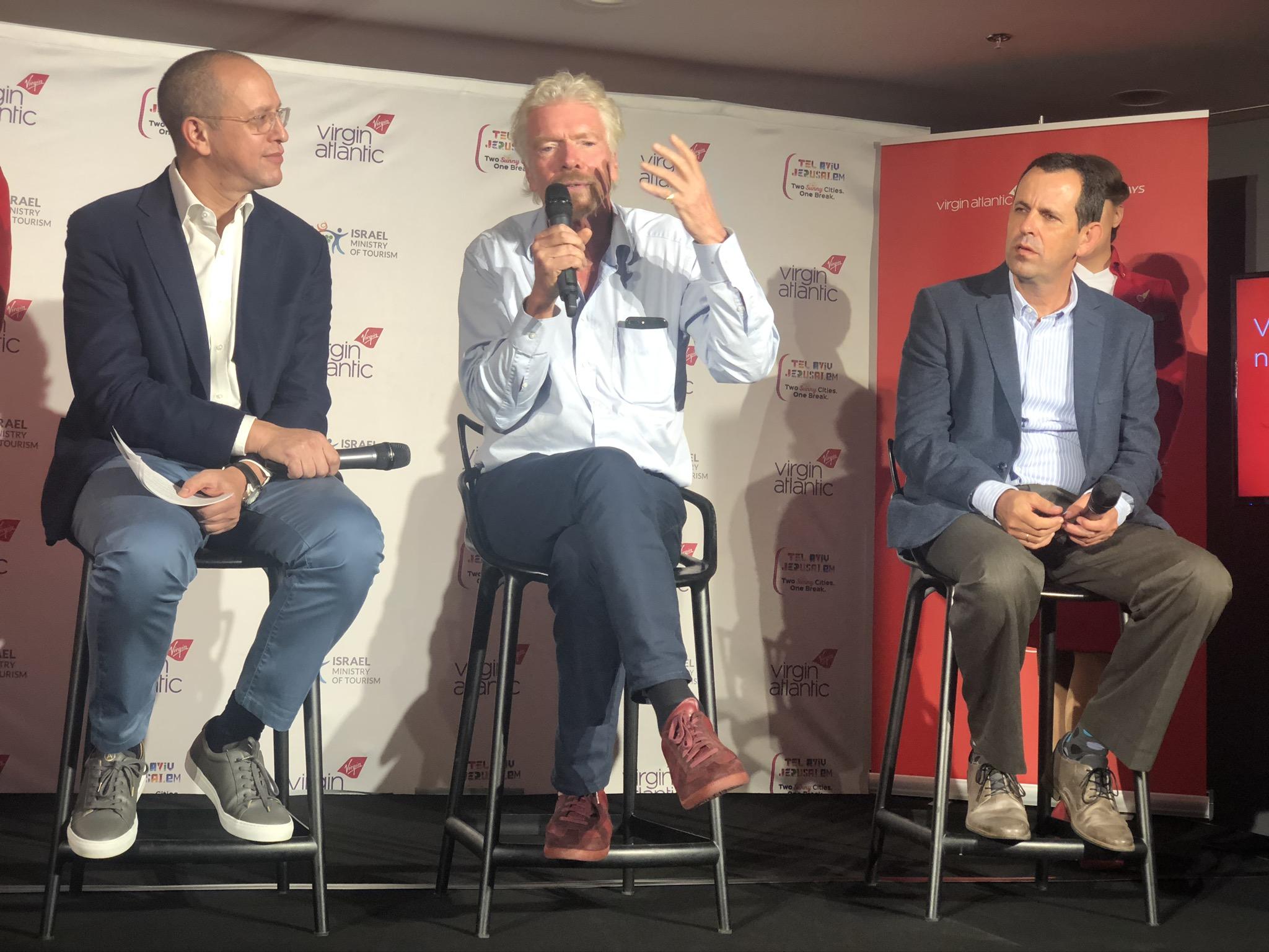 Virgin Atlantic Tel Aviv Richard Branson