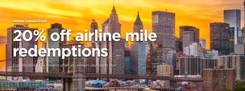 Radisson Rewards 20% rebate on airline transfers