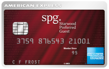 Interest rate changed on Starwood Amex