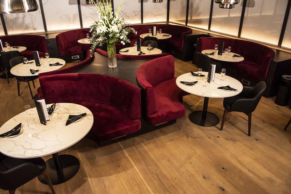 British Airways Johannesburg Lounge first dining