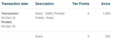 HSBC Premier to Avios transfer bonus