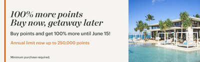 100% IHG Rewards Club buy points bonus