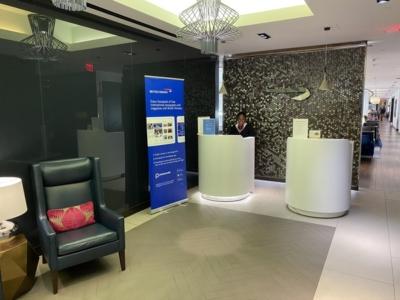 British Airways lounge Washington Dulles reception