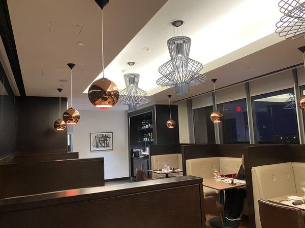 British Airways lounge Washington Dulles first dining