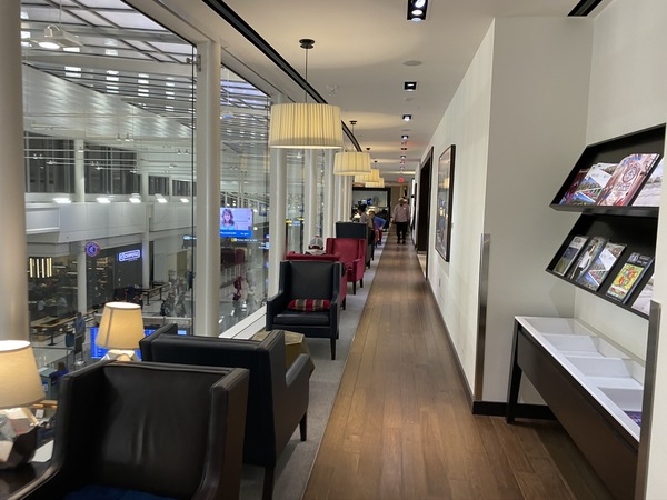 British Airways lounge Washington Dulles