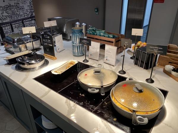 new Aspire Lounge EDI buffet