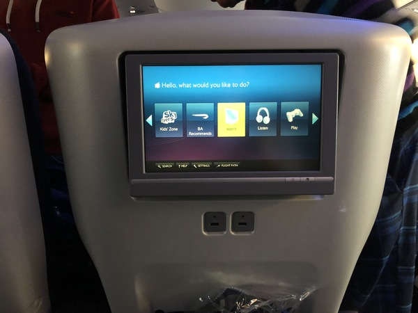 British Airways World Traveller Plus A380 ife