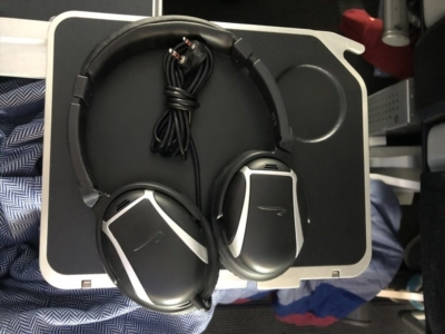 British Airways World Traveller Plus A380 headphones
