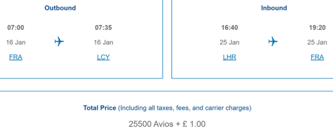 Avios pricing 4