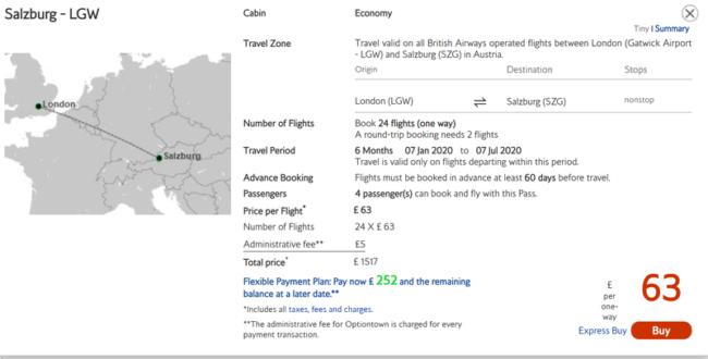 British Airways Flight Pass