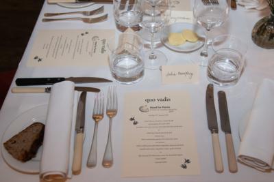 Head for Points Awards Quo Vadis menu