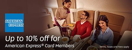 Etihad 10% discount code for American Express cardholders
