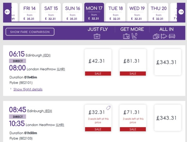 How to book Flybe flights via Virgin Atlantic