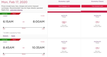 Book Flybe flights on the Virgin Atlantic website