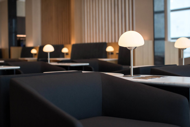 British Airways Rome lounge seating