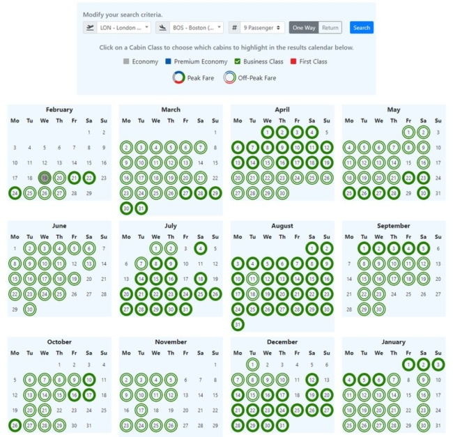 Lots of Avios business class availability to the USA