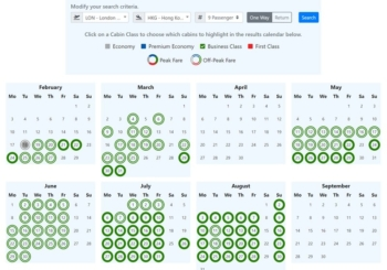 Amazing Avios business class availability to Asia