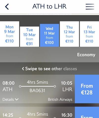 British Airways slot sitting