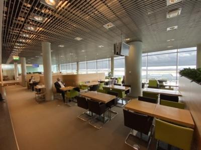 Hahn Air Luxair lounge