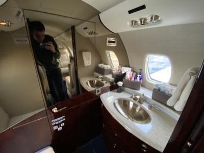 Hahn Air Cessna Citation bathroom