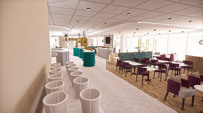 Luton Airport refurbished Aspire lounge