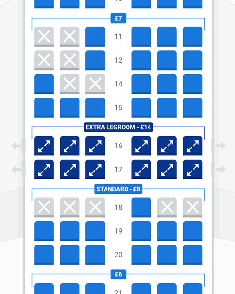 Ryanair seat pricing