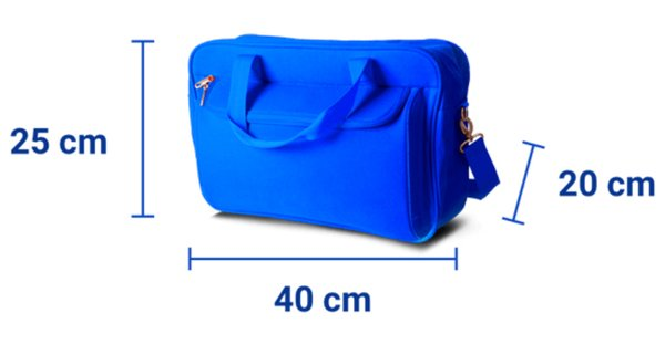 Ryanair small bag size rules