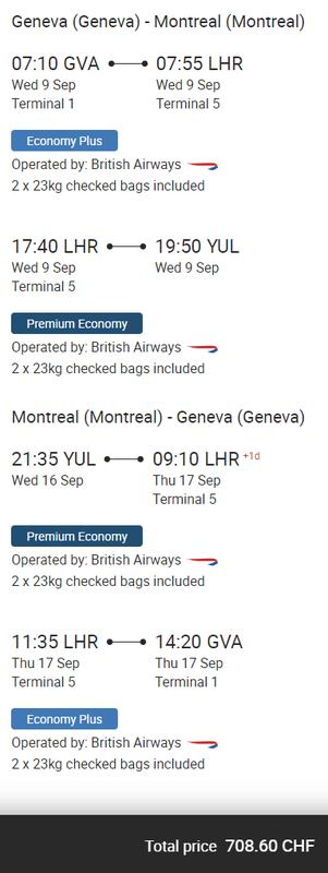 British Airways World Traveller Plus deals
