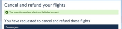 British Airways cancellation