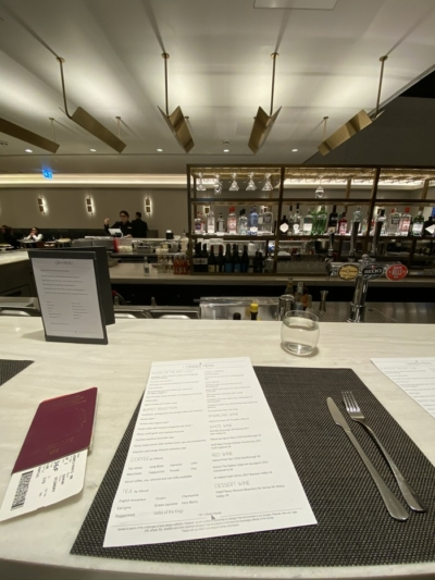 Qantas Lounge Heathrow dining