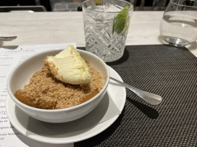 Qantas Lounge Heathrow crumble