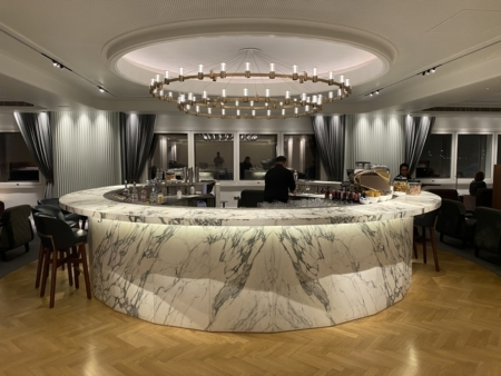 Qantas Lounge Heathrow bar