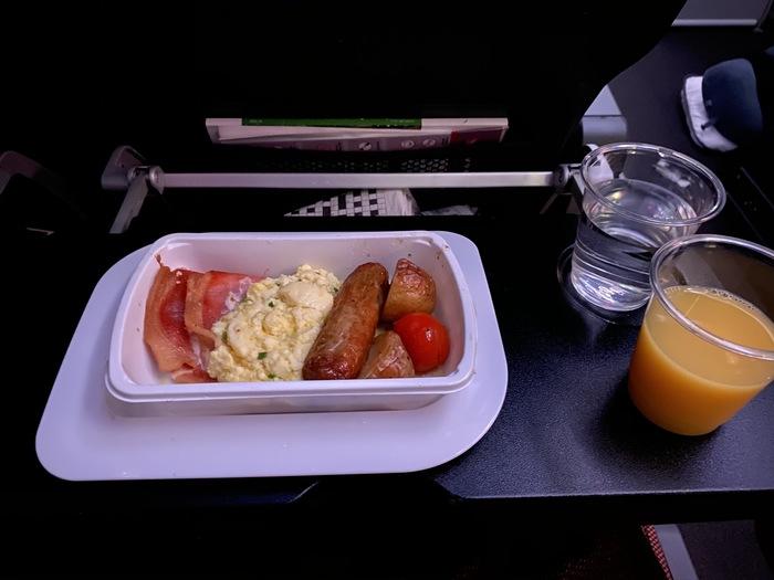 Qantas economy breakfast