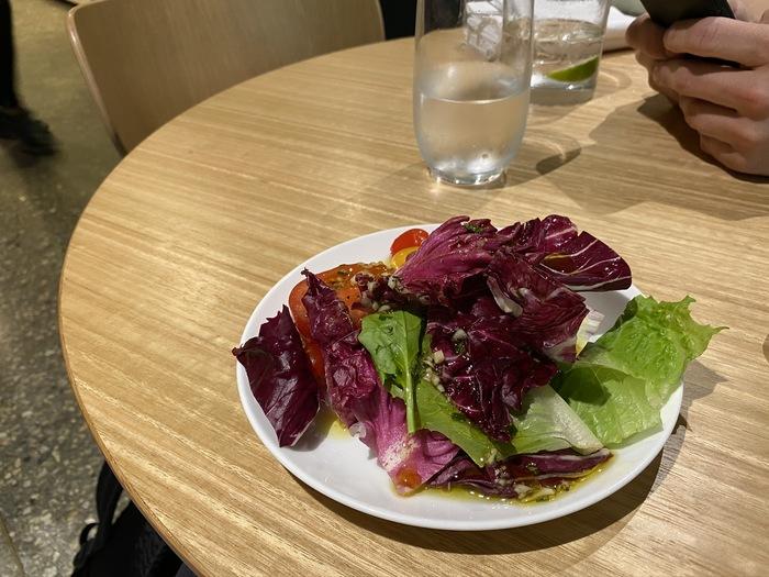 Qantas lounge Singapore salad