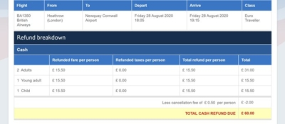 How to trigger an online Avios flight refund using Google Chrome
