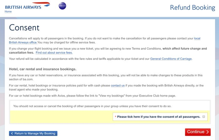 How to trigger an online Avios flight refund using Google Chrome
