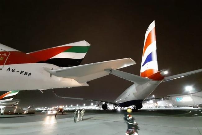 British Airways A350 damaged in Dubai