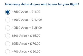 £1 Avios cancellation fees