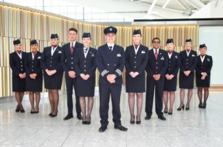 British Airways BA cabin crew