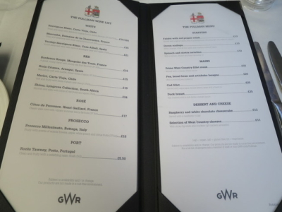Review GWR First Class Pullman Dining rail trains